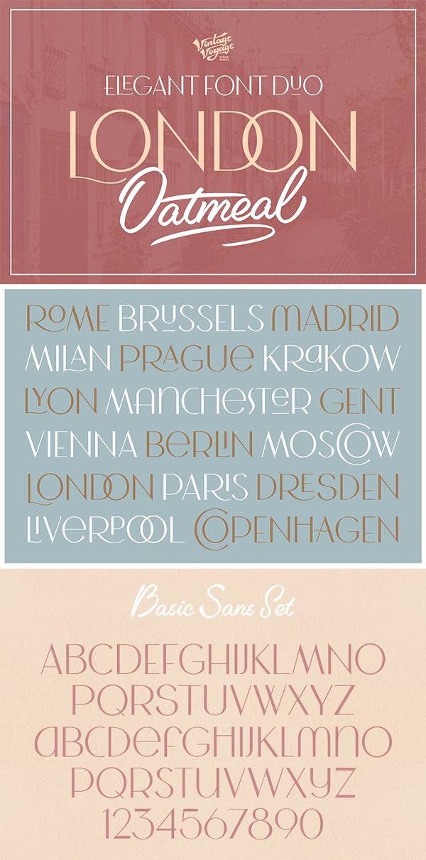 London Oatmeal Stylish Font