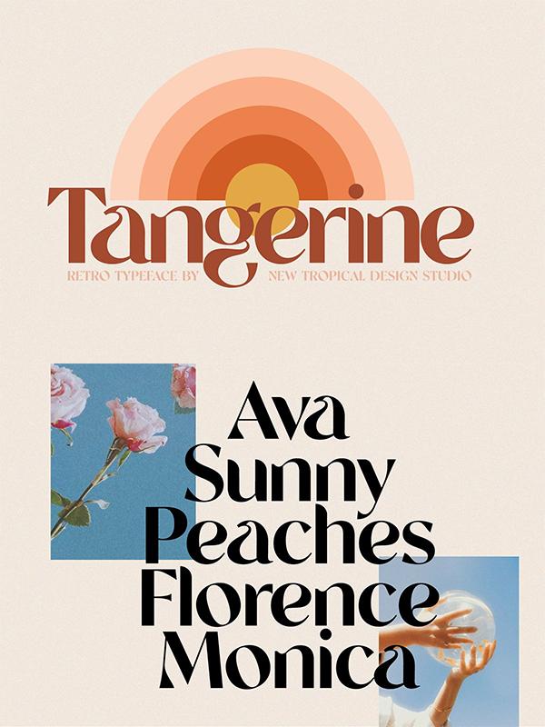 Tangerine - Retro Font