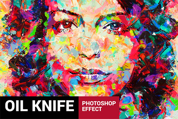 Oil Knife Painting Photoshop Action