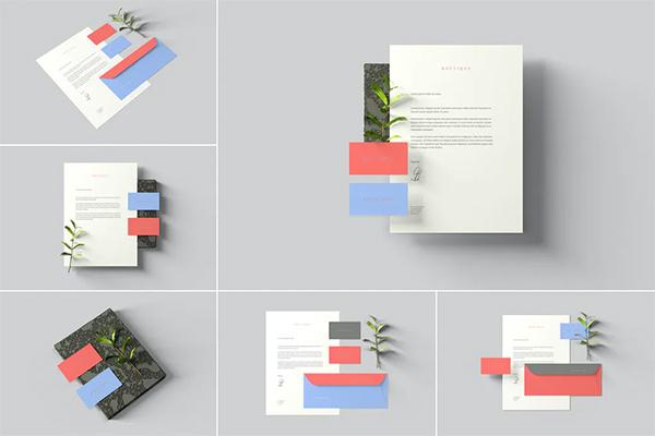 Simple Branding Stationery Mockups