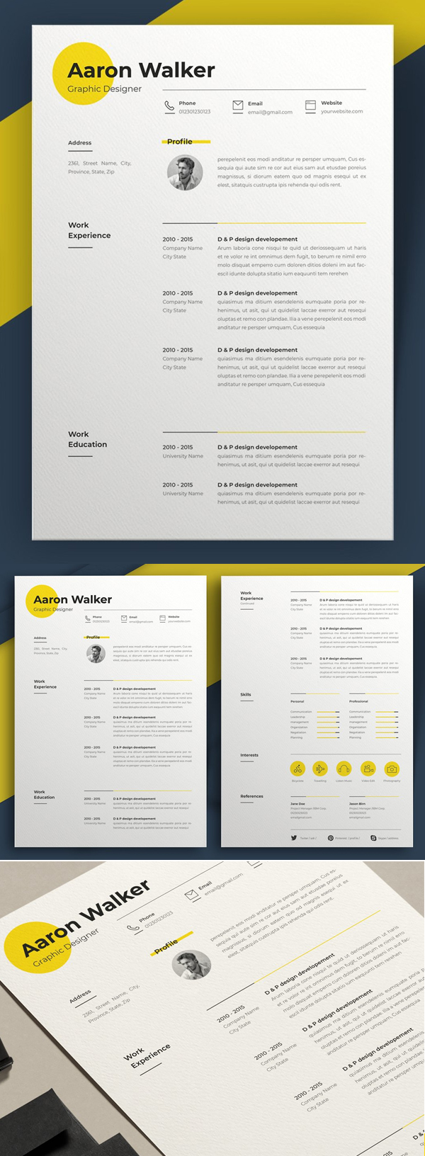 Creative Minimal Resume Template