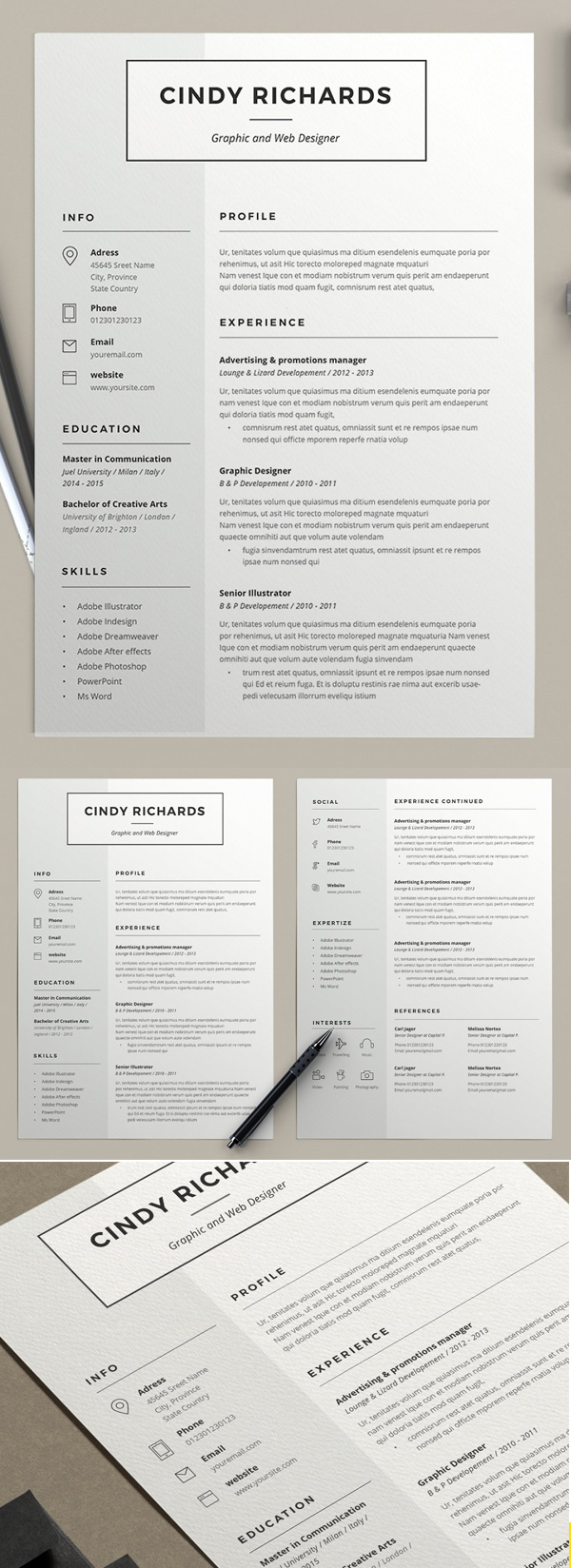 Resume Cindy (2 pages)
