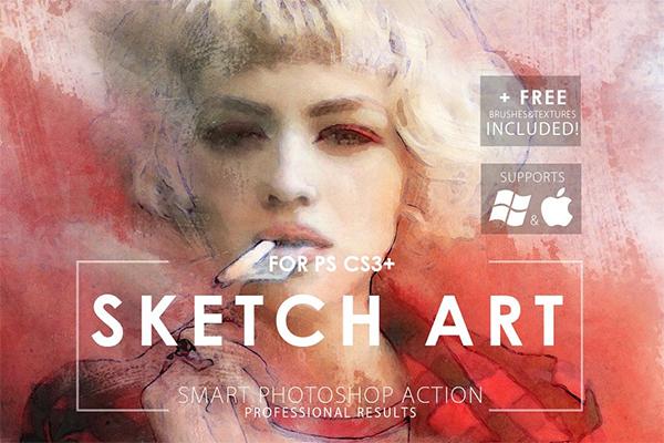 Creative Sketch Art Photoshop Action