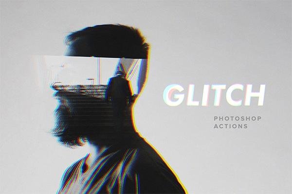 Glitch Photoshop Actions