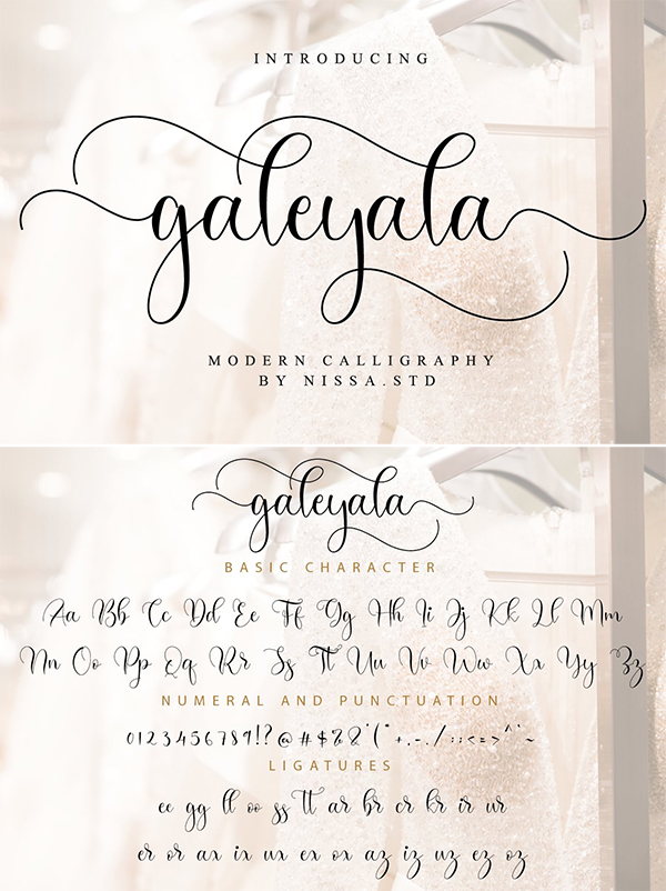 Galeyala Script Font