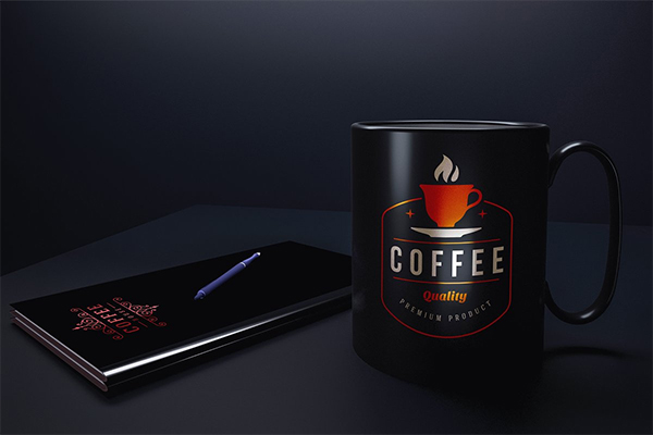 Logo Mockup on Coffee Mug