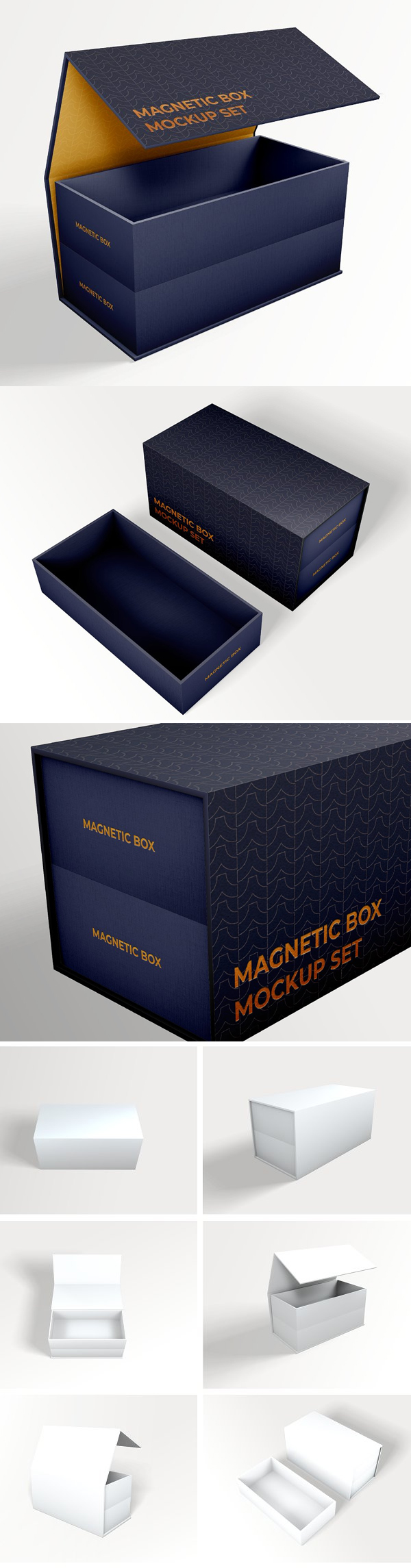 Foldable Magnetic Box Mockup Set