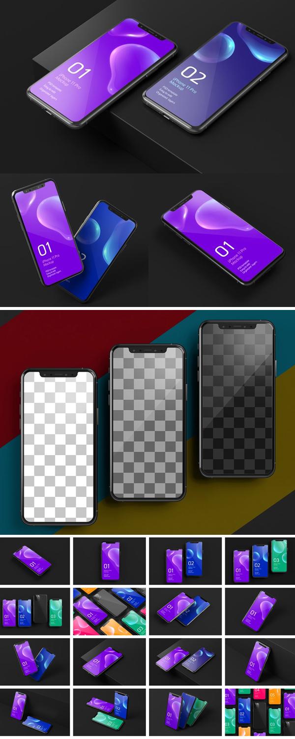 iPhone 11 Pro Dark Mockup Device