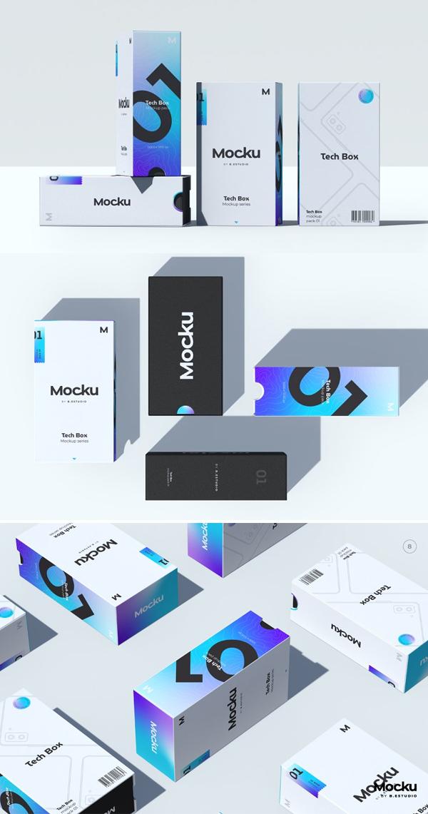Tech Box Mockup