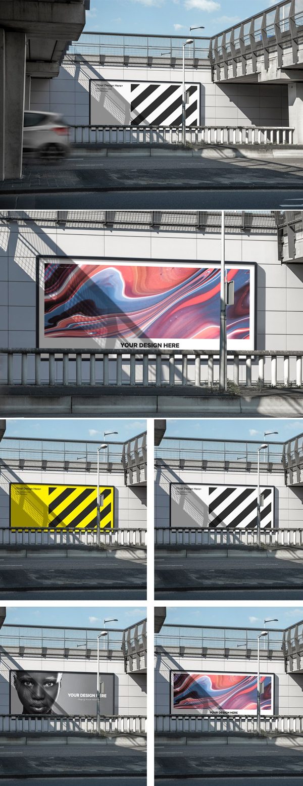 City Road Billboard Mockup