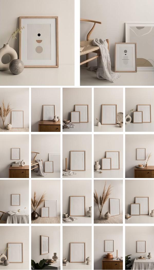 Artwork Frame Photo Mockup Bundle