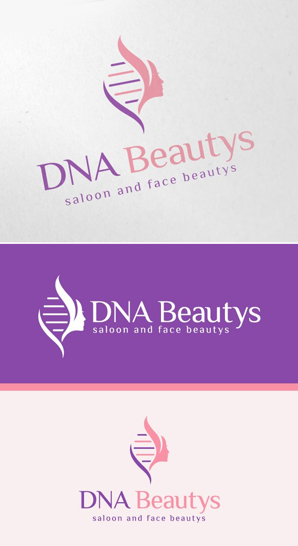 DNA Beauty Logo Template