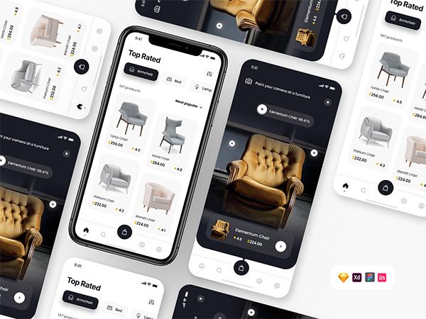 Free Furniture App UI