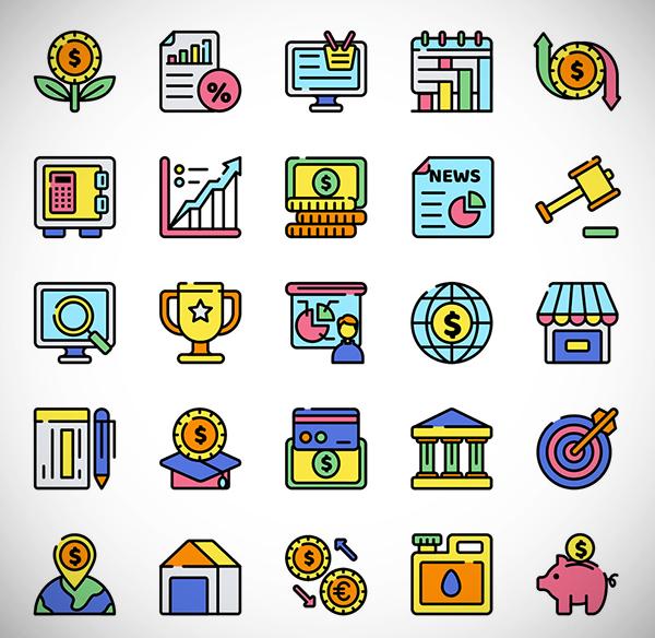Economics Icon Set