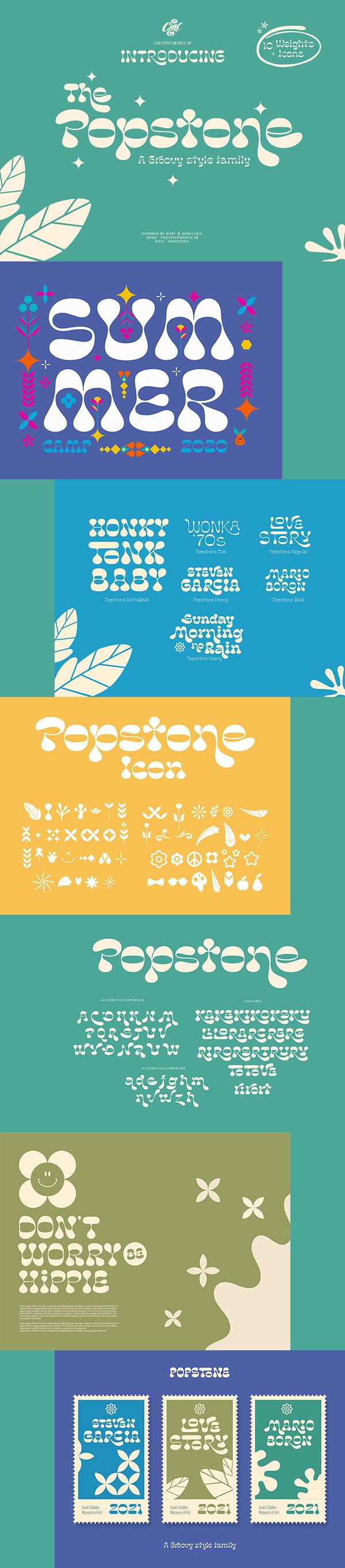 Popstone Display Free Font