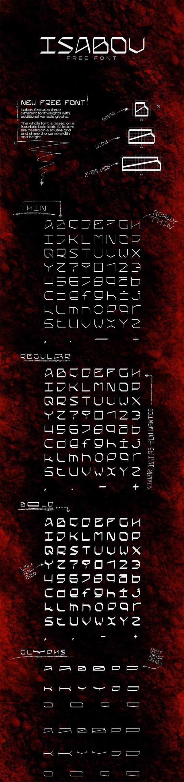 ISABOV - Free Font