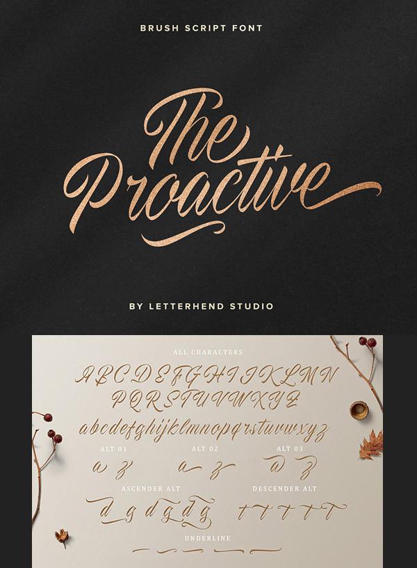 Proactive Script Free Font