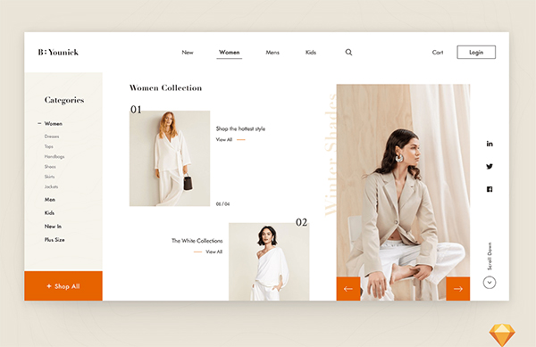 Free Fashion E-Shop Website Template