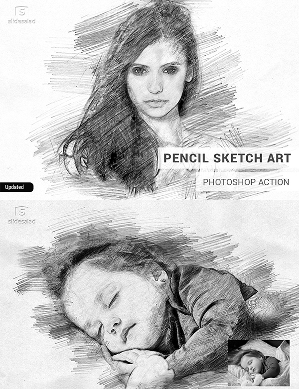 Pencil Sketch Art Photoshop Action