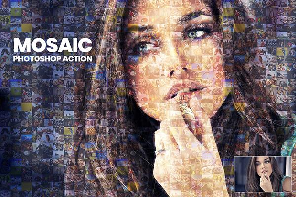 Mosaic Photo Photoshop Action