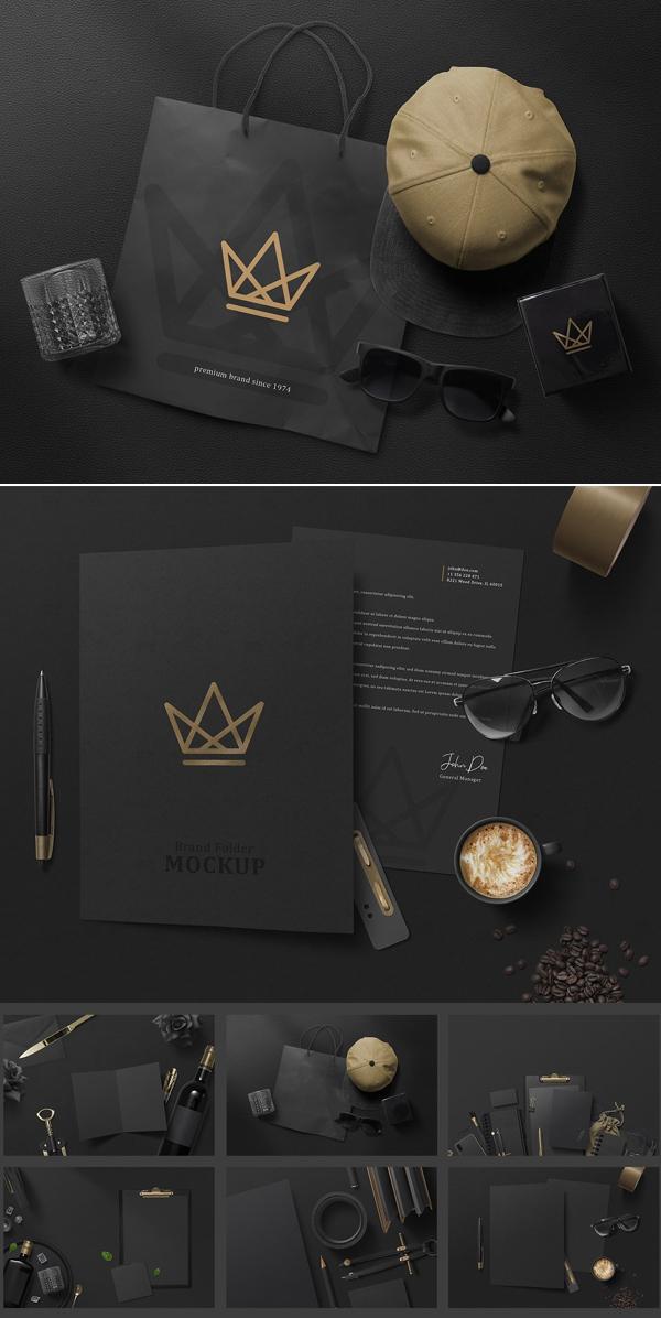 Elegant Black Branding Mockups