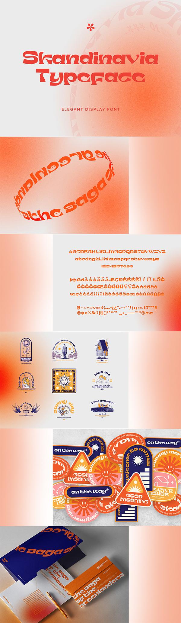 Skandinavia Display Font For Designers