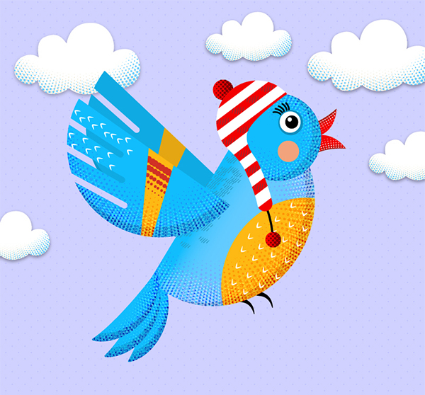 How to Create Colorful bird