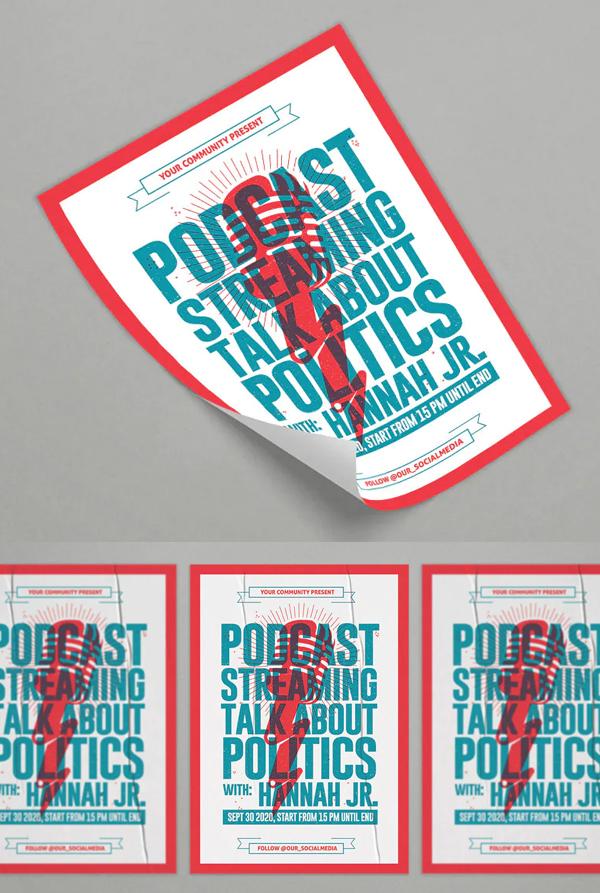 Podcast Flyer Design