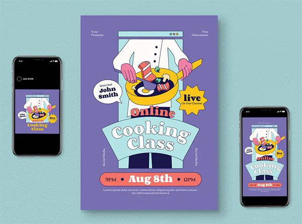 Online Cooking Flyer Pack