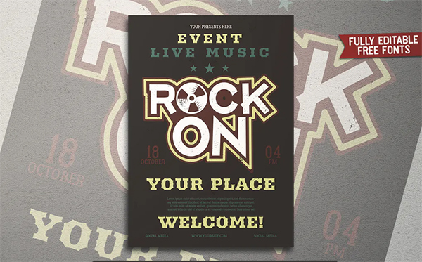Rock Music Party Flyer