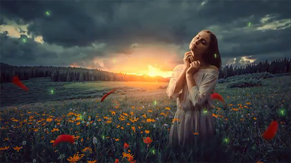 The Girl on the Field – Photo Edit & Manipulation