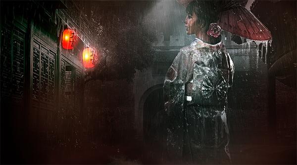 How to Create Rainy Night Scene in Photoshop