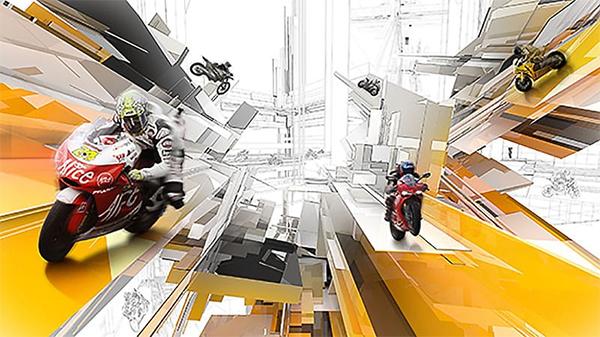 Create Surreal Motorbike Racing Scene in Photoshop