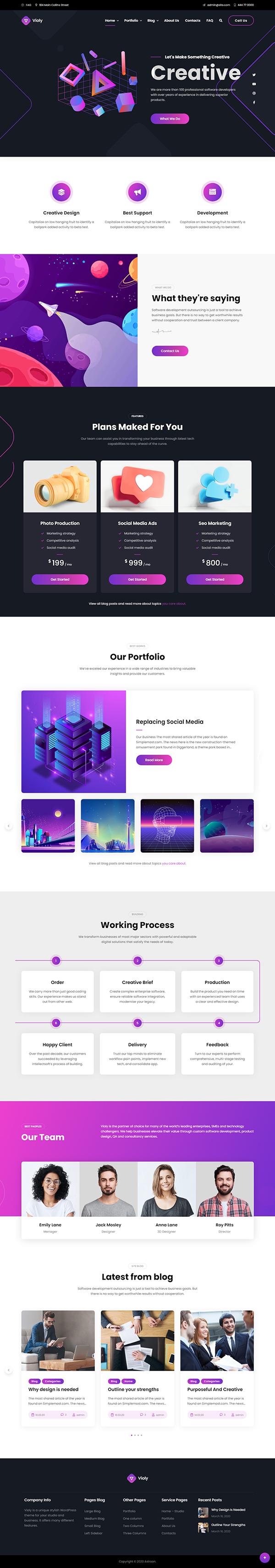 Violy - Creative Studio WordPress Theme