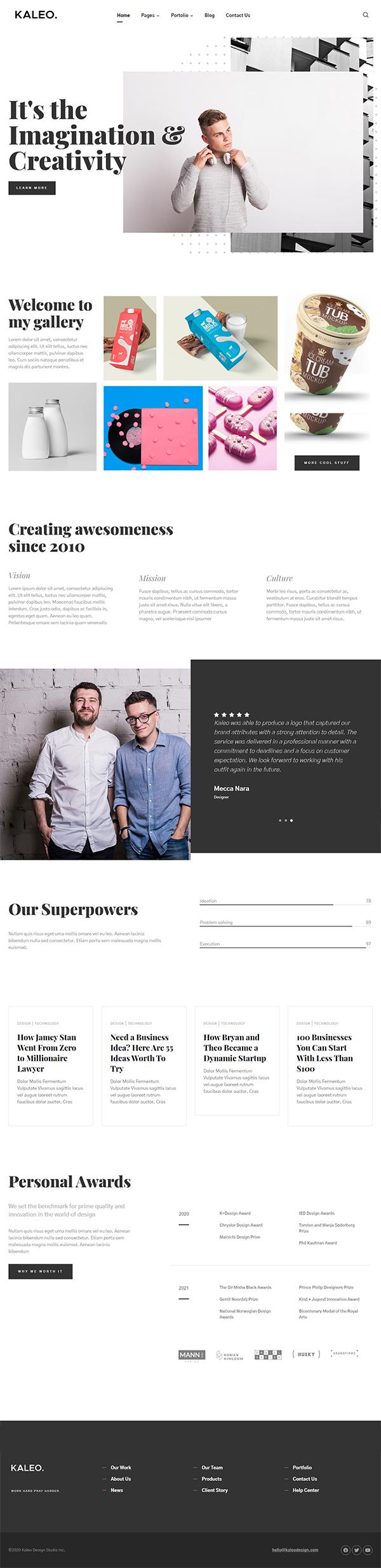 Kaleo - Creative Portfolio WordPress Theme