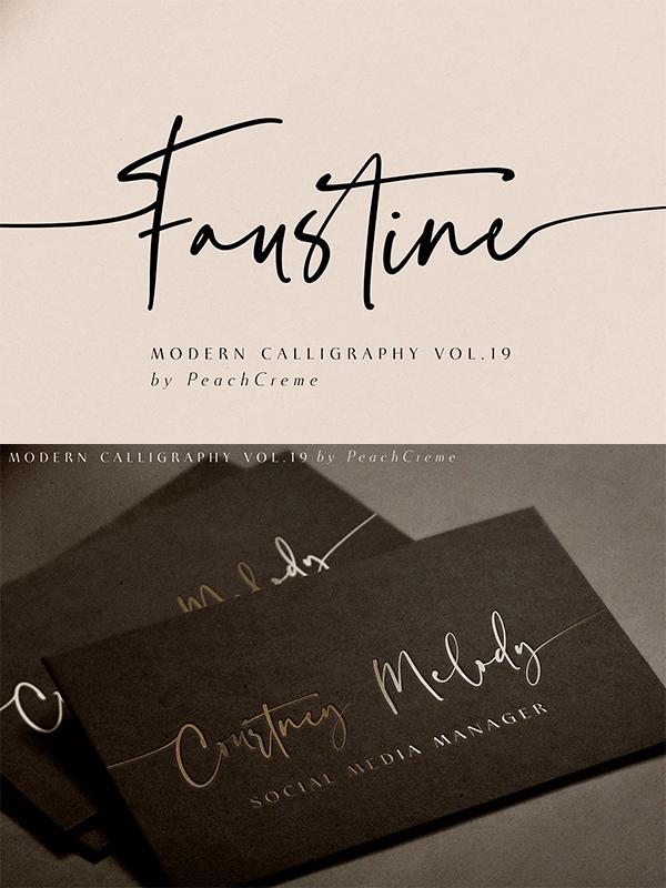 Faustine Modern Script Font