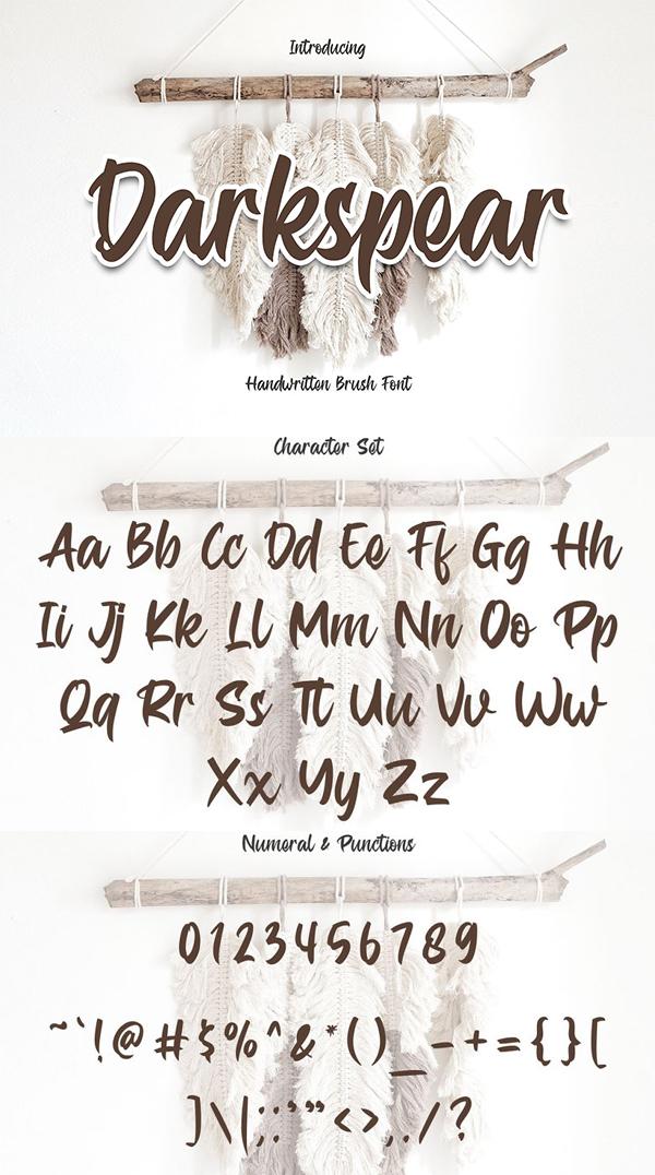 Darkspear - Script Typeface