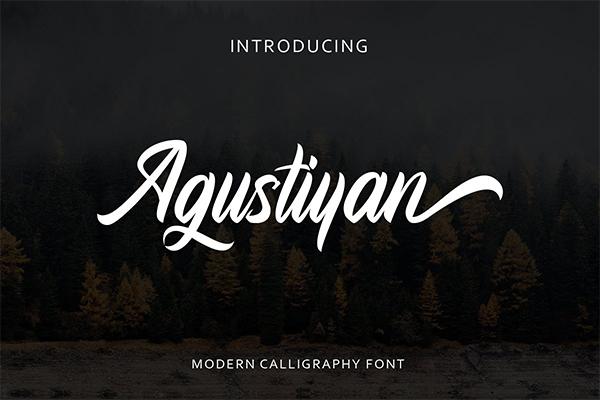Agustiyan Script Font