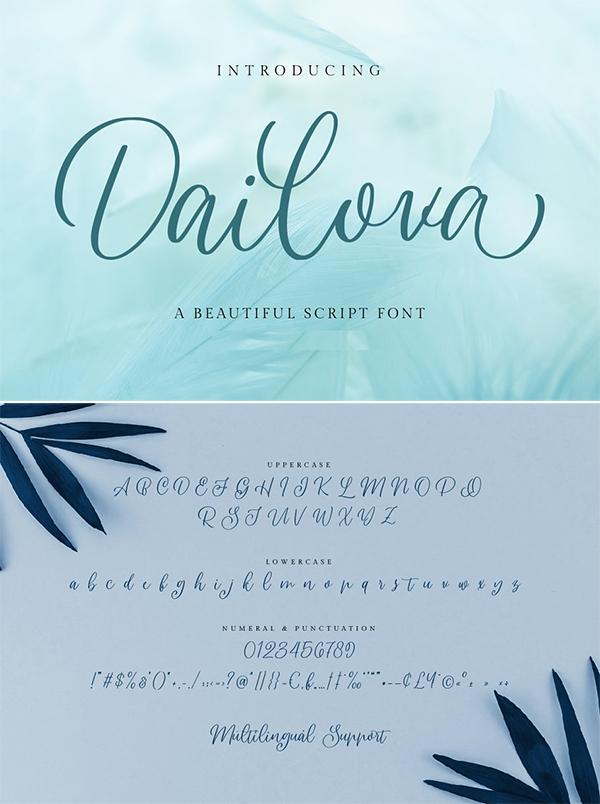 Dailova - Beautifull Script Font