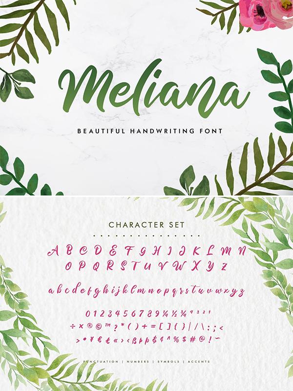 Meliana Script Font