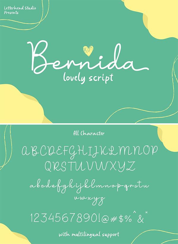 Bernida - Lovely Script Font
