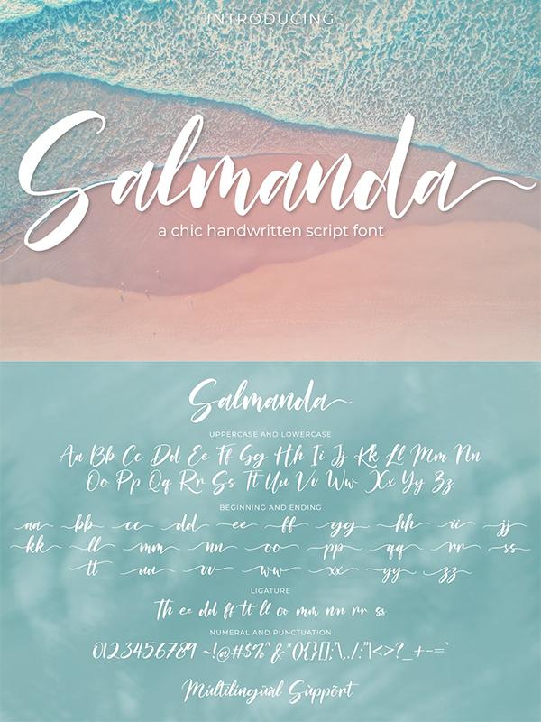 Salmanda - a Handwritten Script Font