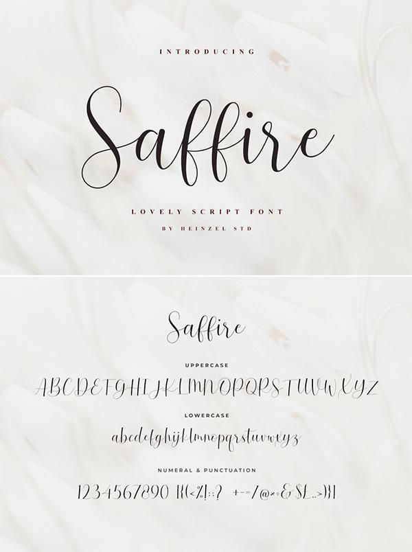 Saffire // Lovely Script Font