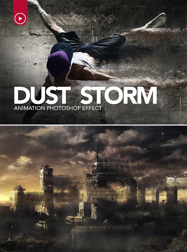 Dust Storm Animation Photoshop Action