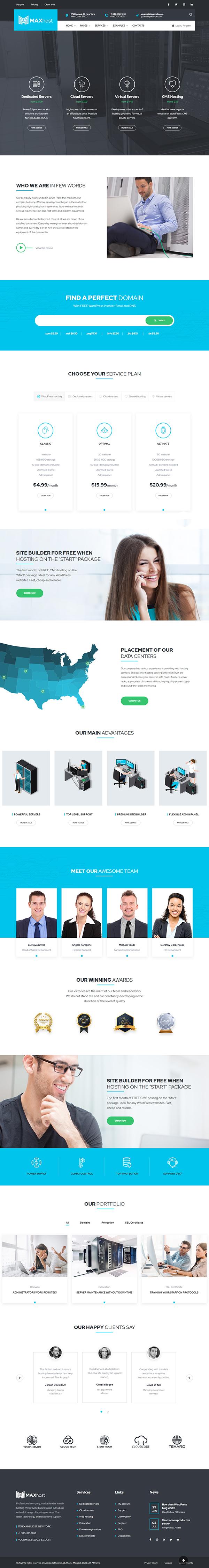 MaxWeb - Hosting & SEO Agency WordPress Theme