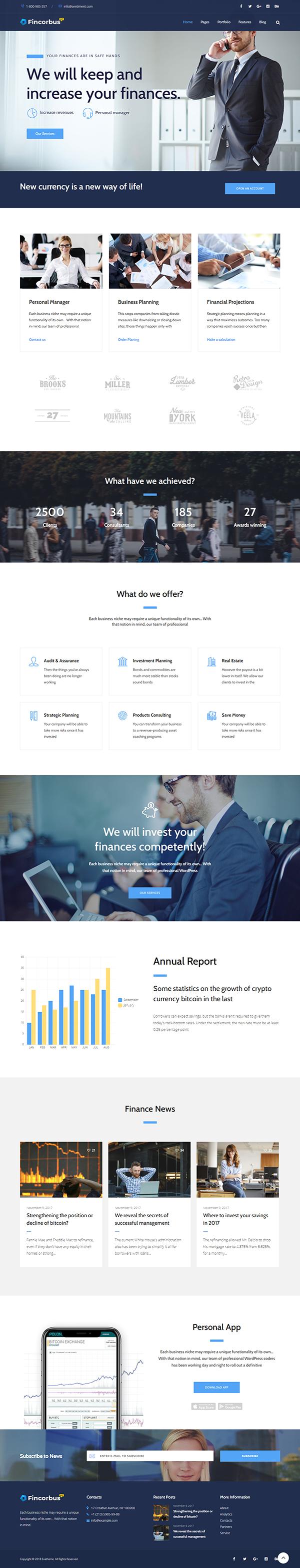 Fincorbus - Finance Corporate WordPress Theme