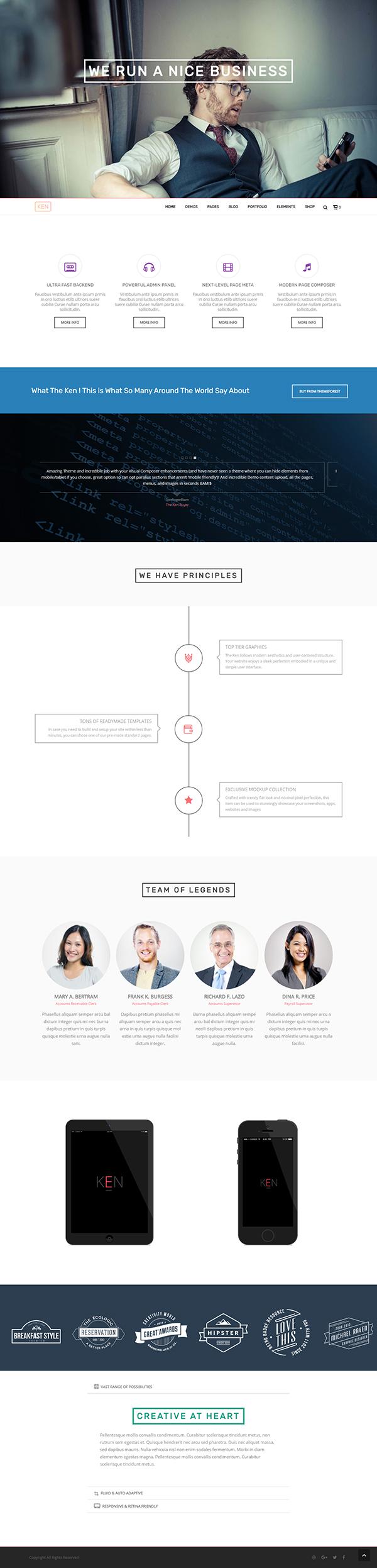 The Ken - Multi-Purpose Creative WordPress Theme
