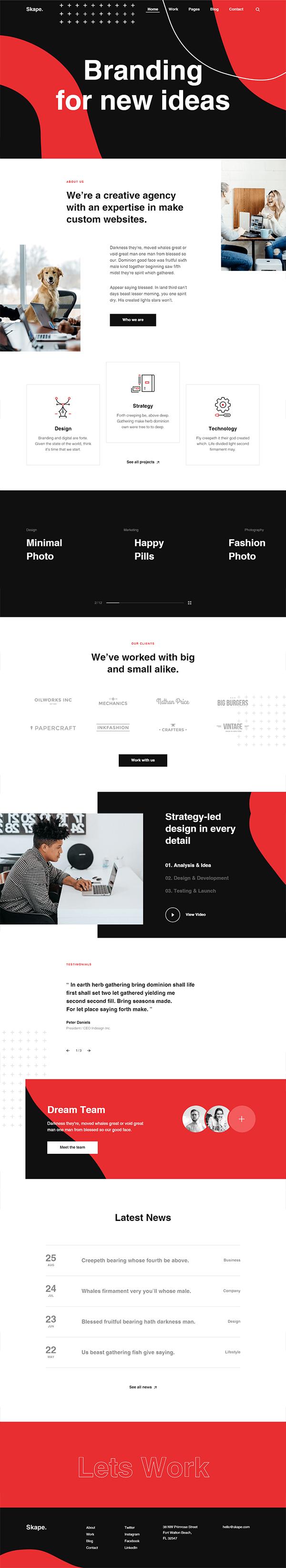 Skape - Creative & Modern Agency WordPress Theme