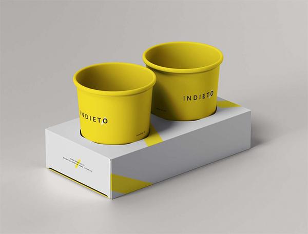 Paper Cup Holder Mockup