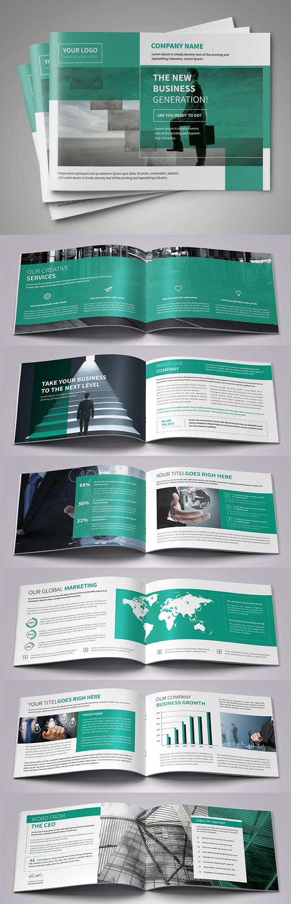 A5 Awesome Business Brochure
